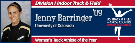 Jenny Barringer, Women's Indoor Track Athlete of the Year