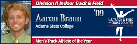 Aaron Braun, Men's Indoor Track Athlete of the Year