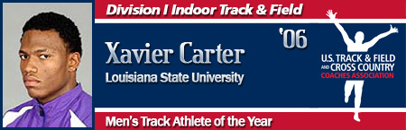 Xavier Carter, Men's Indoor Track Athlete of the Year