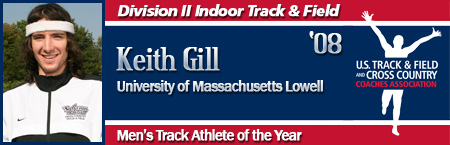 Keith Gill, Men's Indoor Track Athlete of the Year