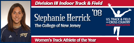Stephanie Herrick, Women's Indoor Track Athlete of the Year