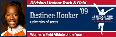 Destinee Hooker, Women's Indoor Field Athlete of the Year