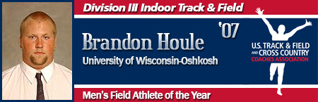 Brandon Houle, Men's Indoor Field Athlete of the Year
