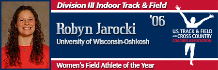 Rachel Jarocki, Women's Indoor Field Athlete of the Year