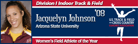Jacquelyn Johnson, Women's Indoor Field Athlete of the Year