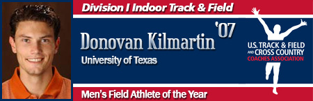 Donovan Kilmartin, Men's Indoor Field Athlete of the Year
