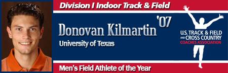 Donovan Kilmartin, Men's Indoor Field Athlete of the Year