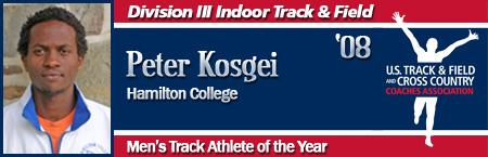 Peter Kosgei, Men's Indoor Track Athlete of the Year