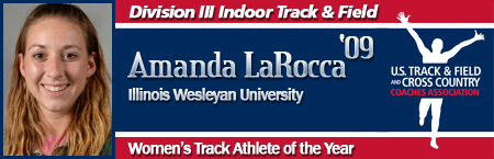 Amanda LaRocca, Women's Indoor Track Athlete of the Year