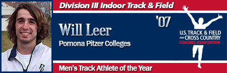 Will Leer, Men's Indoor Track Athlete of the Year