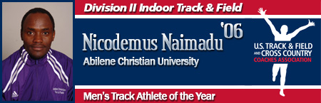 Nicodemus Naimadu, Men's Indoor Track Athlete of the Year