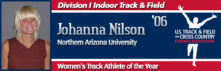 Johanna Nilson, Women's Indoor Track Athlete of the Year