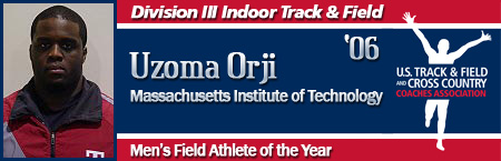 Uzoma Orji, Men's Indoor Field Athlete of the Year