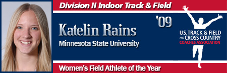 Kateline Rains, Women's Indoor Field Athlete of the Year
