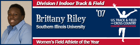 Brittany Riley, Women's Indoor Field Athlete of the Year