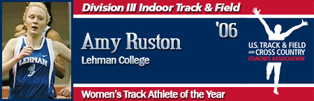 Amy Ruston, Women's Indoor Track Athlete of the Year