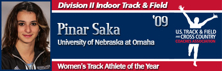 Pinar Saka, Women's Indoor Track Athlete of the Year