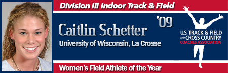 Caitlin Schetter, Women's Indoor Field Athlete of the Year