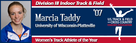 Marcia Taddy, Women's Indoor Track Athlete of the Year