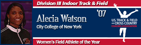 Alecia Watson, Women's Indoor Field Athlete of the Year