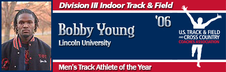 Bobby Young, Men's Indoor Track Athlete of the Year