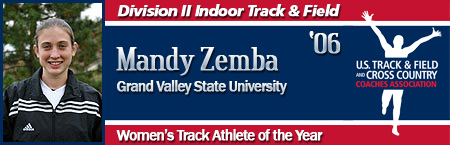 Mandy Zemba, Women's Indoor Track Athlete of the Year