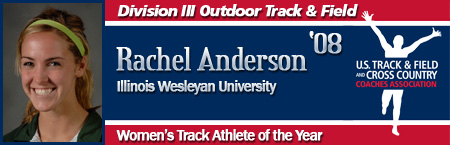 Rachel Anderson, Women's Outdoor Track Athlete of the Year