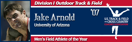 Jake Arnold, Men's Outdoor Field Athlete of the Year