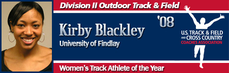 Kirby Blackley, Women's Outdoor Track Athlete of the Year
