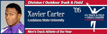 Xavier Carter, Men's Outdoor Track Athlete of the Year