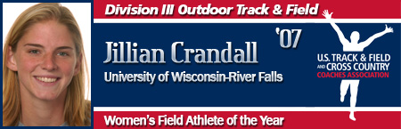 Jillian Crandall, Women's Outdoor Field Athlete of the Year