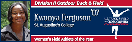 Kwonya Ferguson, Women's Outdoor Field Athlete of the Year