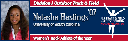 Natasha Hastings, Women's Outdoor Track Athlete of the Year