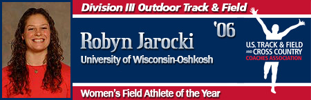 Robyn Jarocki, Women's Outdoor Field Athlete of the Year