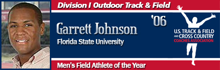 Garrett Johnson, Men's Outdoor Field Athlete of the Year