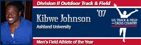 Kibwe Johnson, Men's Outdoor Field Athlete of the Year