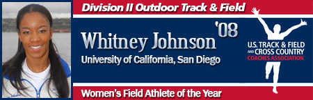 Whitney Johnson, Women's Outdoor Field Athlete of the Year