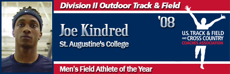 Joe Kindred, Men's Outdoor Field Athlete of the Year