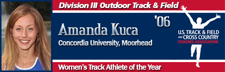 Amanda Kuca, Women's Outdoor Track Athlete of the Year