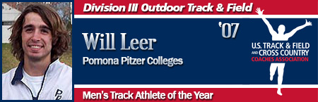 Will Leer, Men's Outdoor Track Athlete of the Year