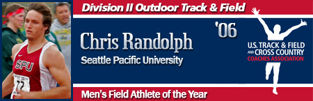 Chris Randolph, Men's Outdoor Field Athlete of the Year