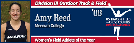 Amy Reed, Women's Outdoor Field Athlete of the Year
