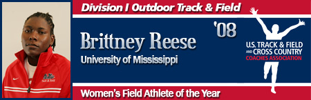 Brittney Reese, Women's Outdoor Field Athlete of the Year