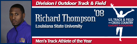 Richard Thompson, Men's Outdoor Track Athlete of the Year