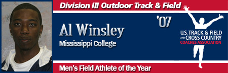 Al Winsley, Men's Outdoor Field Athlete of the Year