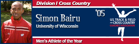Simon Bairu, Men's Cross Country Athlete of the Year