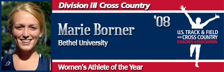 Marie Borner, Women's XC Athlete of the Year