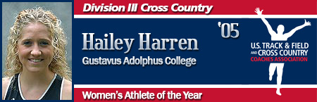 Hailey Harren, Women's Cross Country Athlete of the Year