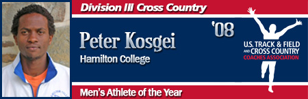 Peter Kosgei, Men's XC Athlete of the Year