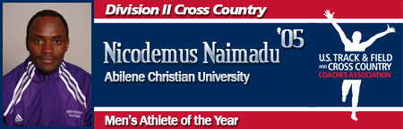 Nicodemus Naimadu, Men's Cross Country Athlete of the Year